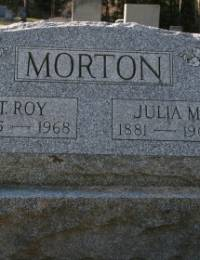 Nace/T Roy and Julia Morton Tombstone.JPG